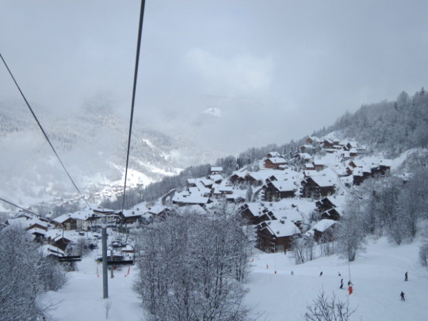 Coming down the ski lift into Méribel Village