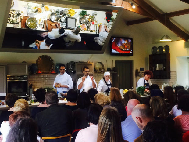 Yotam Ottolenghi and Sami Tamimi in action