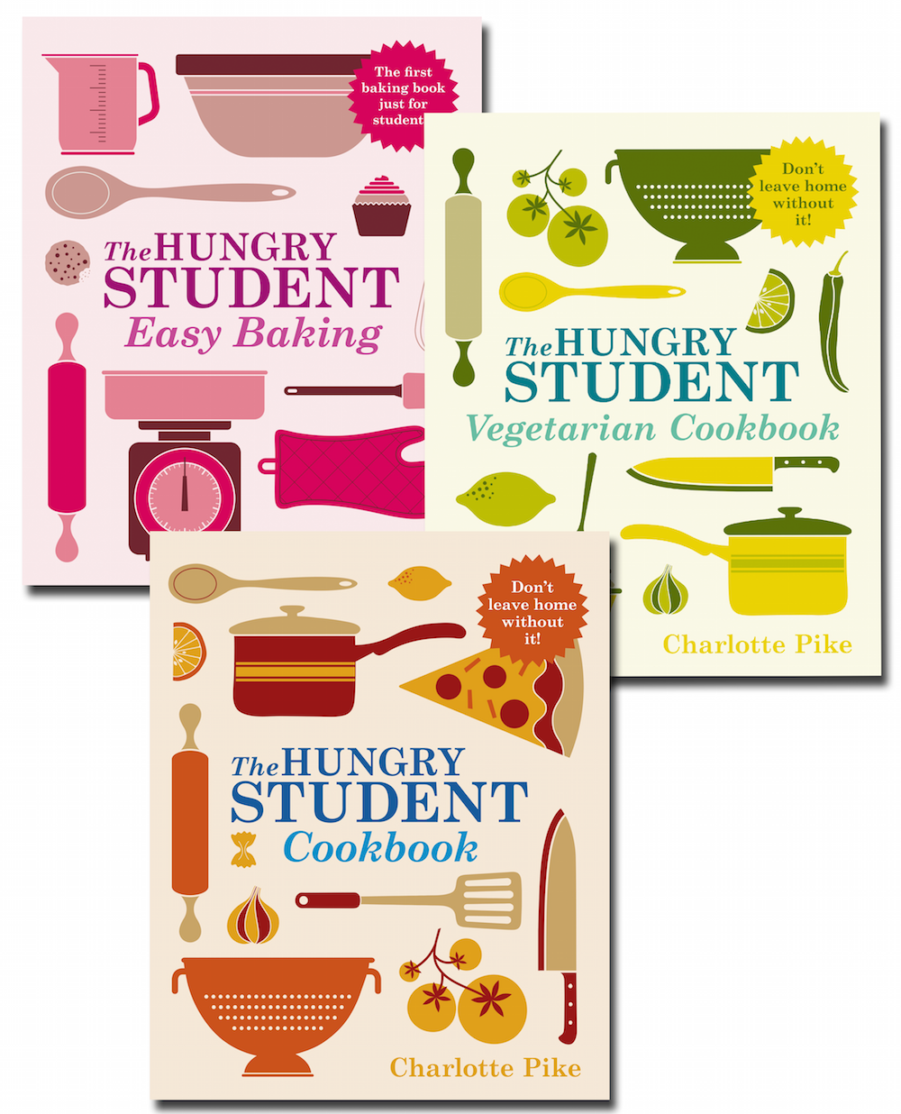 complete set of hungry student cookbooks