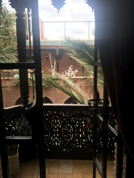 Our courtyard balcony at La Sultana