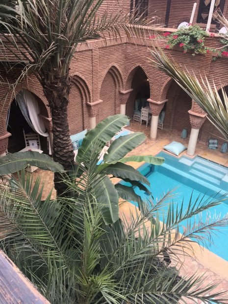 La Sultana pool and courtyard