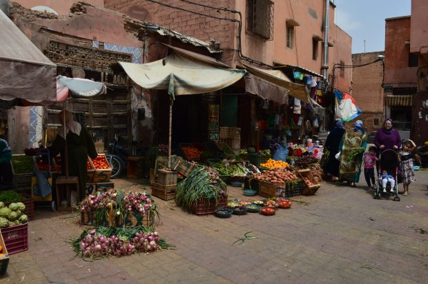 Street market in the Kasbah area