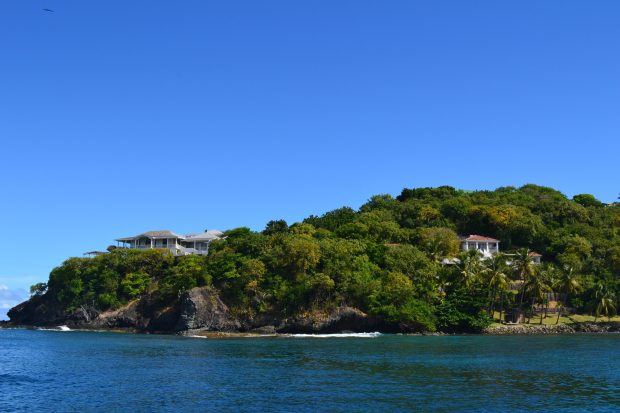 Some of the more visible houses on Mustique
